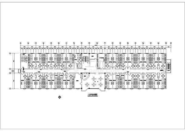 洗浴中心装修设计CAD平面方案图-图2