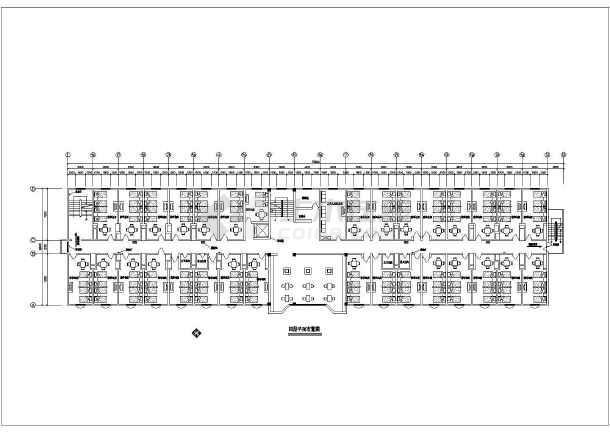 洗浴中心装修设计CAD平面方案图-图3