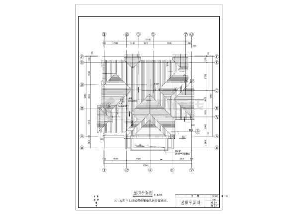 点击查看某混合结构美式别墅全套建筑施工图第1张大图