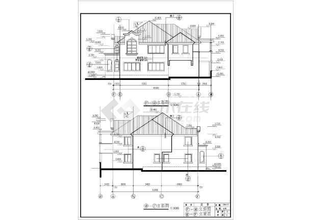 某混合结构美式别墅全套建筑施工图-图3