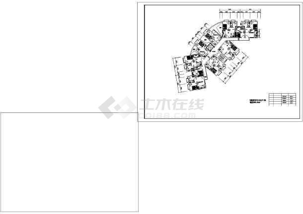 某住宅小户型建筑设计CAD平面图-图1