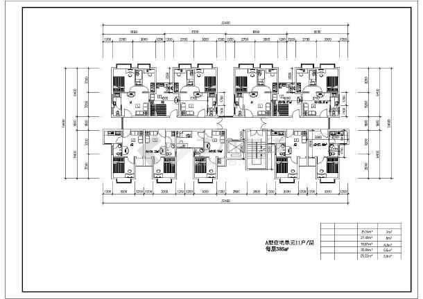某住宅小户型建筑设计CAD平面图-图2