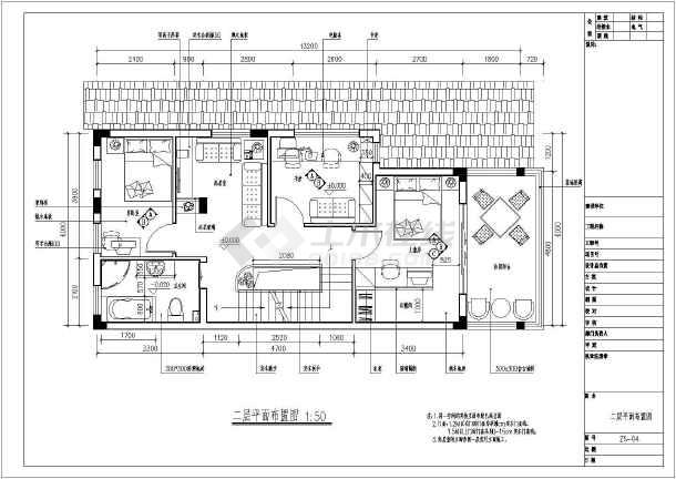 大型别墅二层住宅全套装修cad施工图-图1