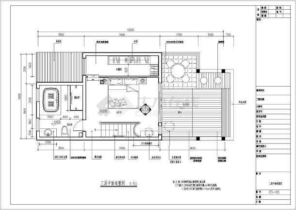 大型别墅二层住宅全套装修cad施工图-图2