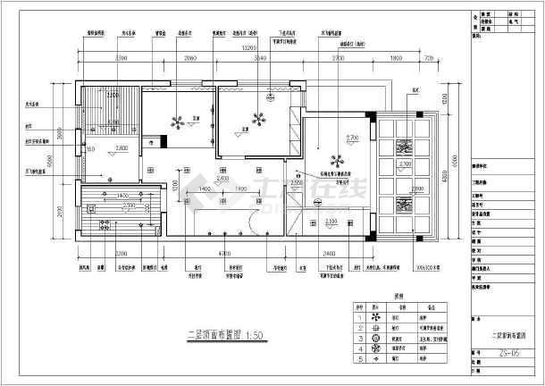大型别墅二层住宅全套装修cad施工图-图3