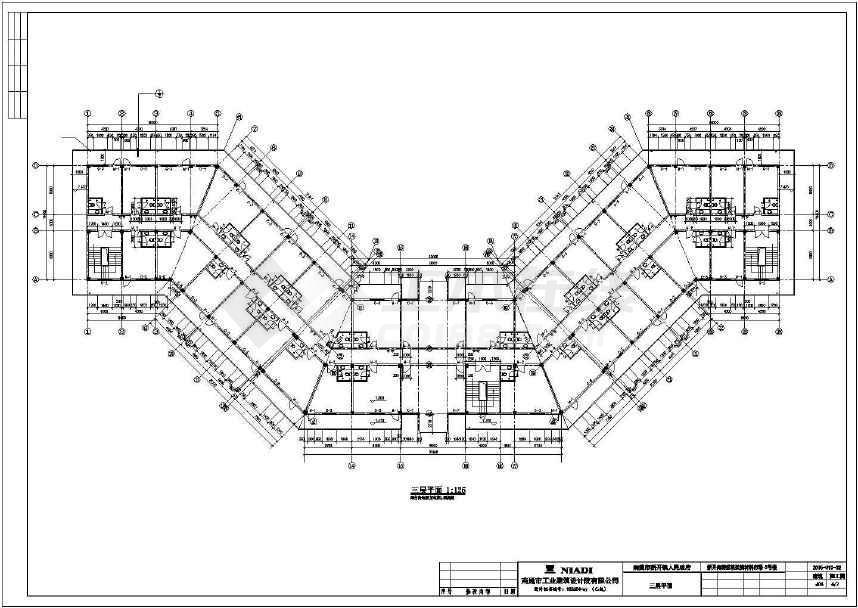 某地三层临街底商办公楼建筑方案图-图2
