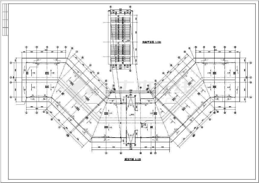 某地三层临街底商办公楼建筑方案图-图3