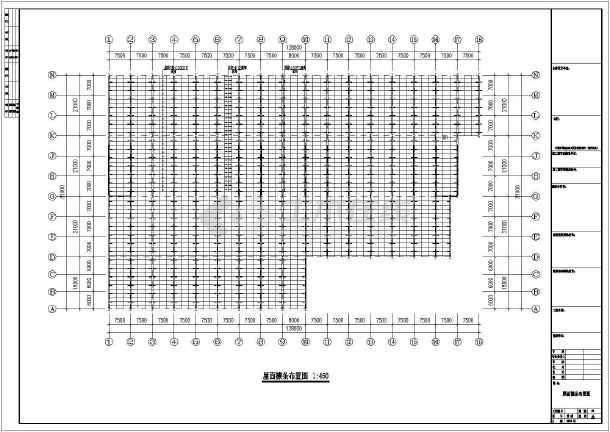 某地公司钢结构工程CAD图纸-图3