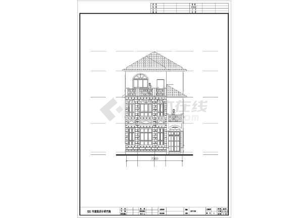 113.4平方米三层别墅建筑设计图-图2