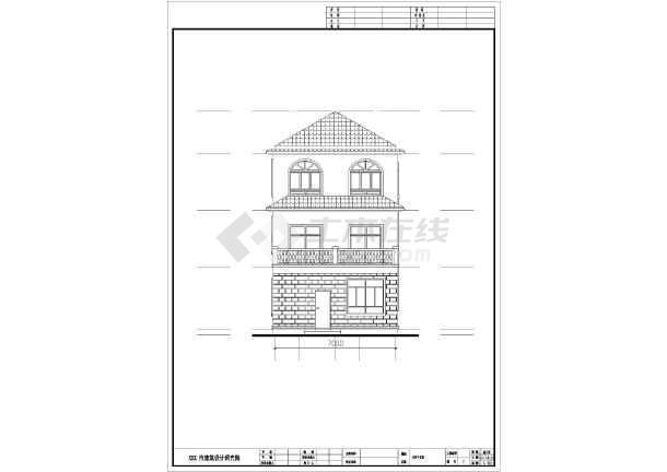 113.4平方米三层别墅建筑设计图-图3