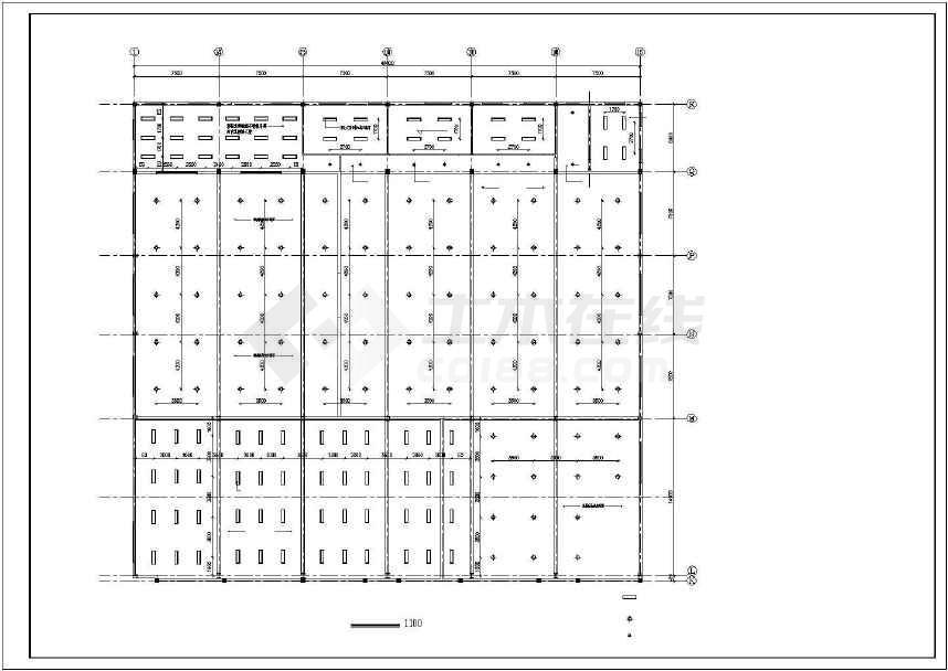 某地汽车展厅建筑方案图-图1