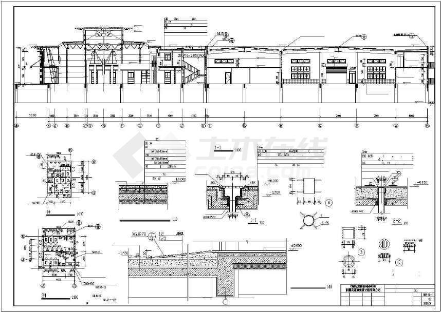 某地汽车展厅建筑方案图-图2