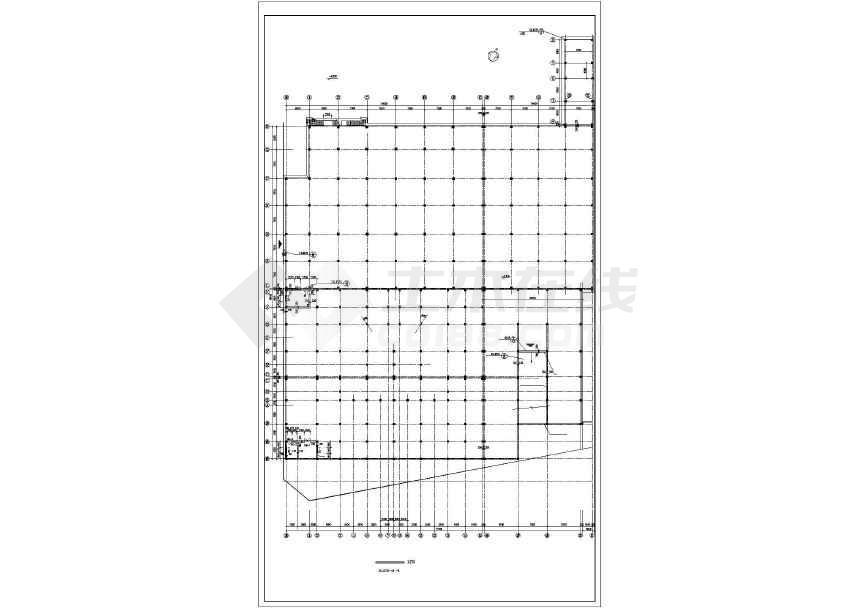 某地汽车展厅建筑方案图-图3