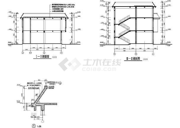 商业综合楼建筑设计CAD全套施工图-图1
