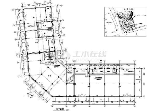 商业综合楼建筑设计CAD全套施工图-图2