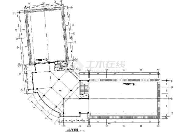 商业综合楼建筑设计CAD全套施工图-图3