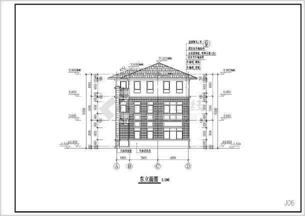 某框架结构小别墅全套施工图-图2