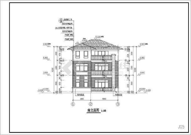 某框架结构小别墅全套施工图-图3