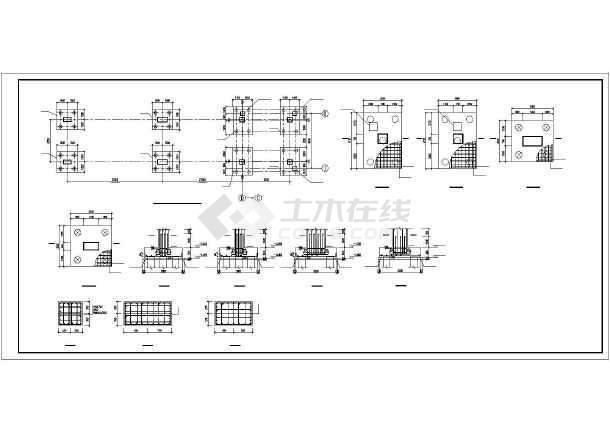 三跨钢结构通廊施工图纸-图2