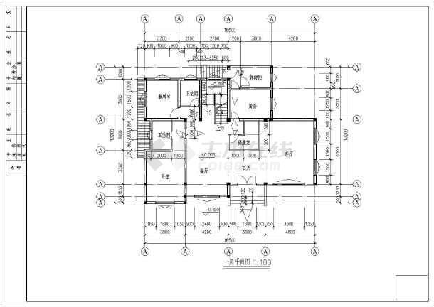 某山区小别墅设计施工图-图1