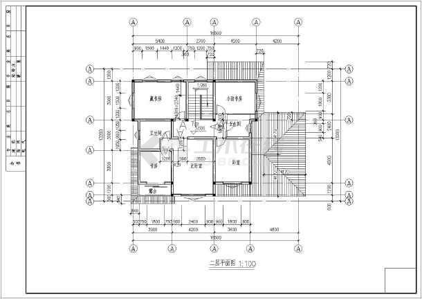 某山区小别墅设计施工图-图2