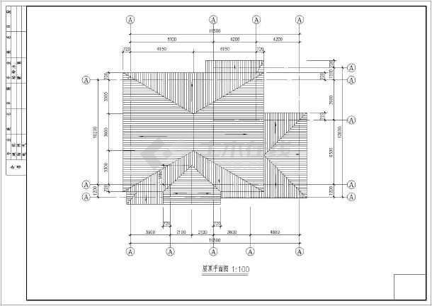 某山区小别墅设计施工图-图3