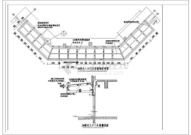 公司大楼入口雨棚钢结构图纸-图3