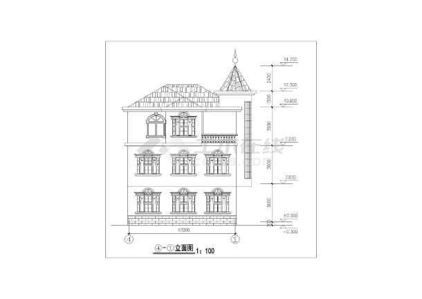 一套典型的别墅施工图(共8张)-图3