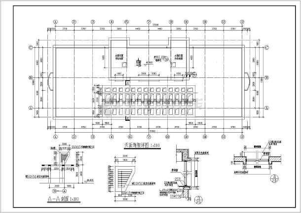 商业综合楼建筑全套设计CAD施工图-图1