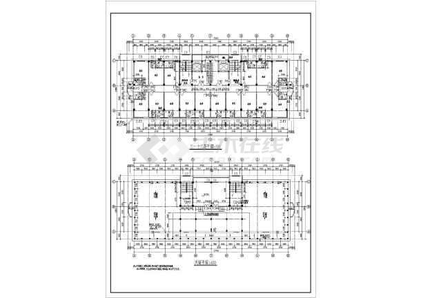 商业综合楼建筑全套设计CAD施工图-图2