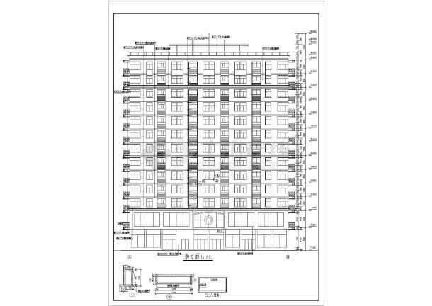 商业综合楼建筑全套设计CAD施工图-图3