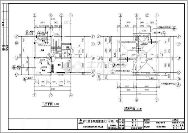 三层农居住宅建筑设计施工图-图1