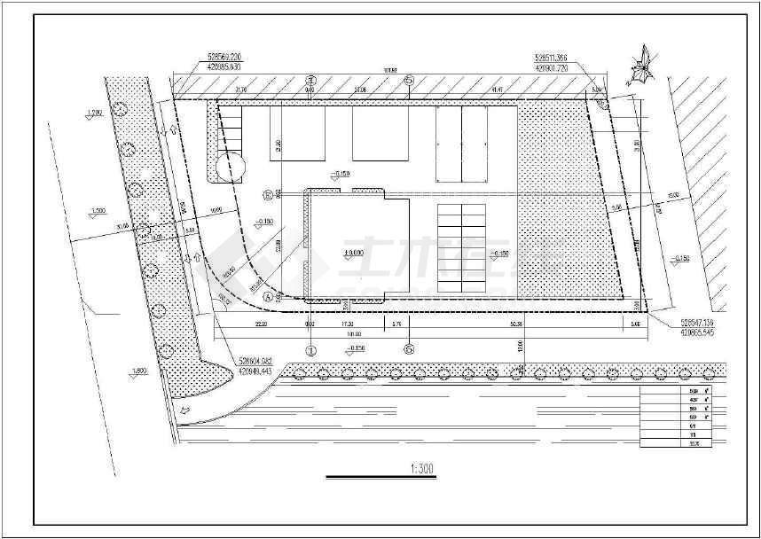 某地精美单层汽车展厅建筑方案图-图1