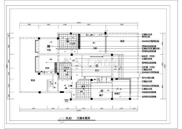 复式户型家装设计cad平面装修图-图1