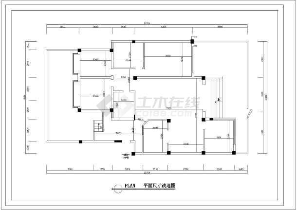 复式户型家装设计cad平面装修图-图2