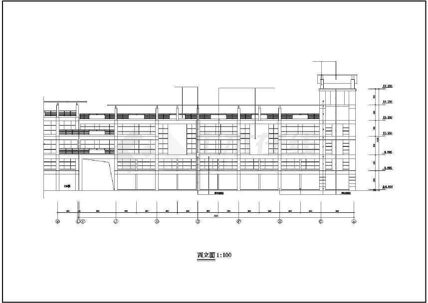 某地三层市场建筑方案图-图3