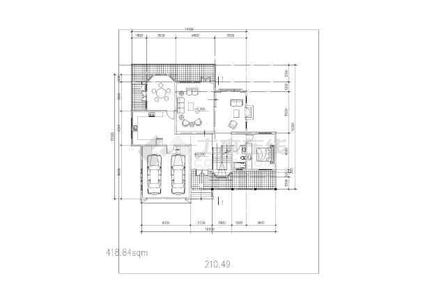 坡地独栋别墅方案设计建筑图-图2