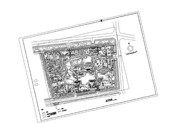 某居住小区建筑设计规划CAD图-图一