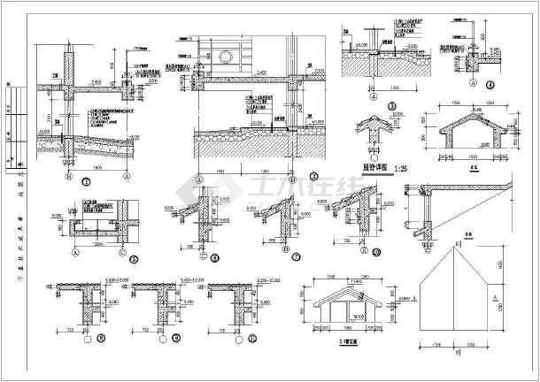 某三层私人小别墅建筑结构施工图-图1