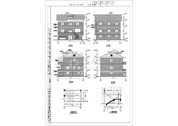 某三层私人小别墅建筑结构施工图-图2
