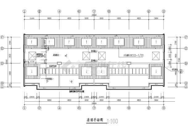 某砖混结构联体别墅全套施工图-图3