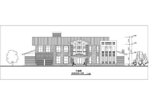 两层独立别墅方案设计建筑图-图1