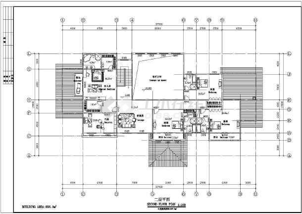 两层独立别墅方案设计建筑图-图2