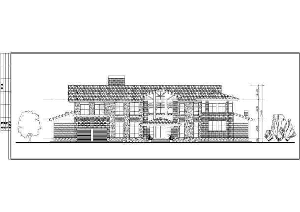 两层独立别墅方案设计建筑图-图3