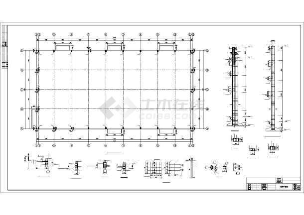 [湖南]27米跨现浇钢筋混凝土排架结构工厂车间结构施工图-图1