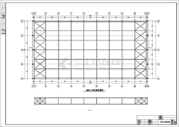 [湖南]27米跨现浇钢筋混凝土排架结构工厂车间结构施工图-图3