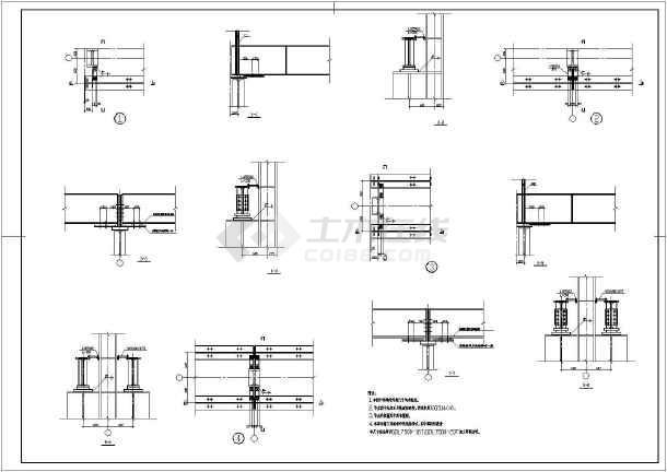 某公司仓库钢结构施工图-图1