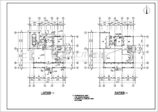 某住宅区特色小别墅建筑设计方案图-图2
