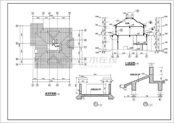 某住宅区特色小别墅建筑设计方案图-图3
