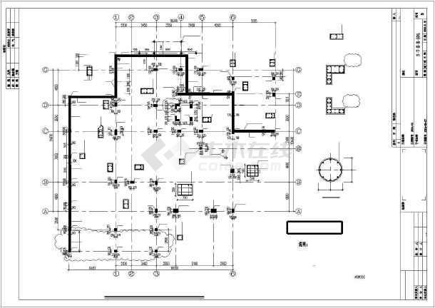 [北京]某独立高档住宅结构设计图-图1